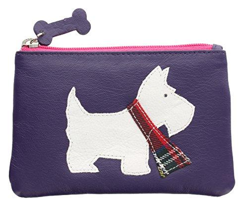 Portamonete Mala Leather con porta chiavi e chiusura a zip. Collezione Best Friends SCOTTY 492_65 Porpora