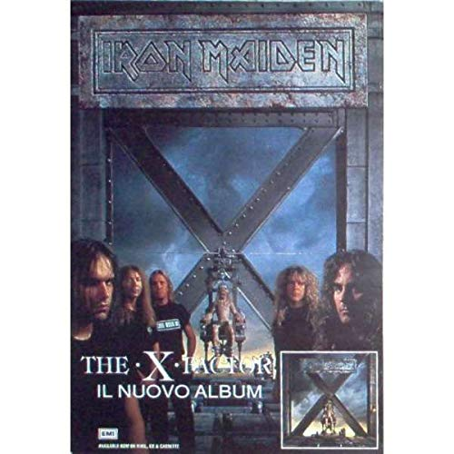 Iron Maiden - The x factor (italian 1995)- Promo Poster (42 x 60)