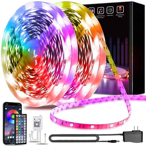 130ft Led Lights Keepsmile APP Control Music Sync Color Changing Led Strip Lights with Remote Led Lights for Bedroom Room Home Decoration