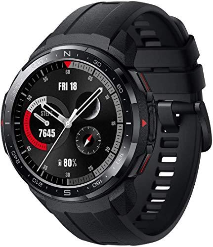 """HONOR Watch GS Pro Reloj Inteligente de 48 mm para Hombres 1.39""""AMOLED, Llamadas Bluetooth, Monitor SpO2, Seguimiento de frecuencia cardíaca, GPS 5ATM a Prueba de Agua, Negro"""