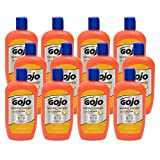 GOJO NATURAL ORANGE Smooth Hand Cleaner, 14 fl oz Quick-Acting Lotion Hand Cleaner Flip-Cap Squeeze Bottle (Pack of 12) - 0947-12