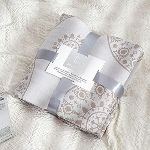 ASHY Algodón de verano aire acondicionado edredón suave manta viaje sofá oficina niños adultos ropa de cama
