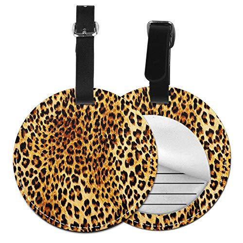 Etiquetas para Equipaje Bolso ID Tag Viaje Bolso De La Maleta Identifier Las Etiquetas Maletas Viaje Luggage ID Tag para Maletas Equipaje Leopardo Salvaje