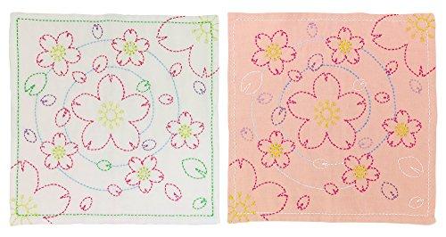 オリムパス製絲『刺し子154 花ふきん水辺の桜』