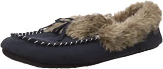 Acorn Women's Cozy Faux Fur Moc Slipper with memory foam and plush suede upper