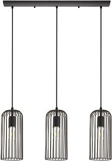Eglo Lighting 49645A Roccamena - Three Light Linear Pendant, Black/Copper Finish with Black/Copper Shade