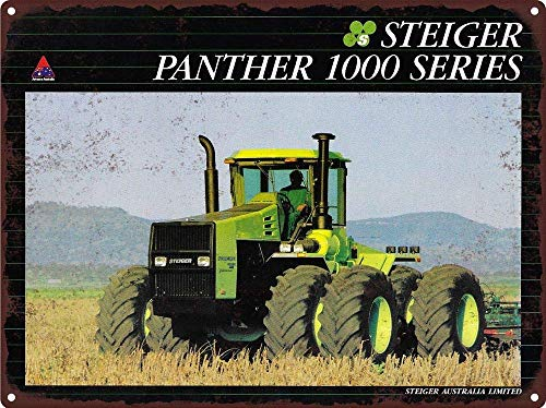 Steiger 4Wd Panther 1000 Series Tractor Farm Man Cave Metal Sign Tin Plaque 12