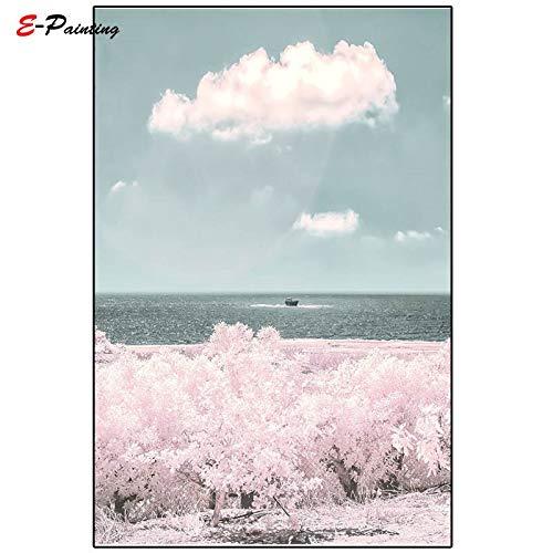 yaoxingfu Rahmenlose Kein Rahmen Moderne Leinwand Strand Sonnenaufgang Druck Dekorative Welle Wandkunst Marine Poster Fotografie Wohnzimmer Wohnkultur 40x60 cm