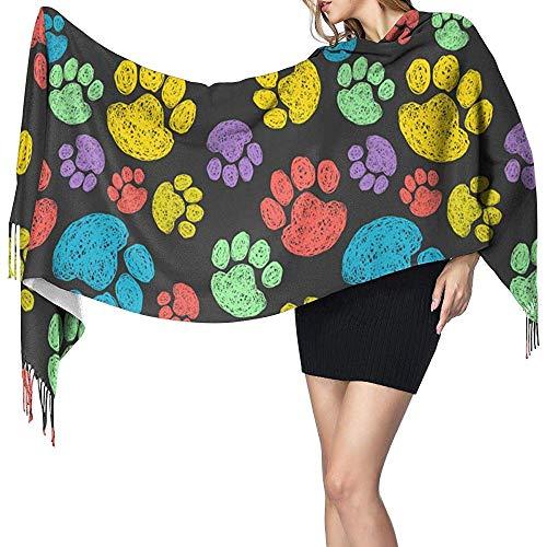 Mahada Mooi naadloos patroon met kleurrijke hand getekende krabber bedrukt sjaal stijlvolle zachte, gezellige warme verpakking sjaal