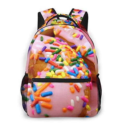 Donuts Espolvoreados Mochila de Viaje Ligera Mochila Escolar Informal para Mujeres y Adolescentes Regalo