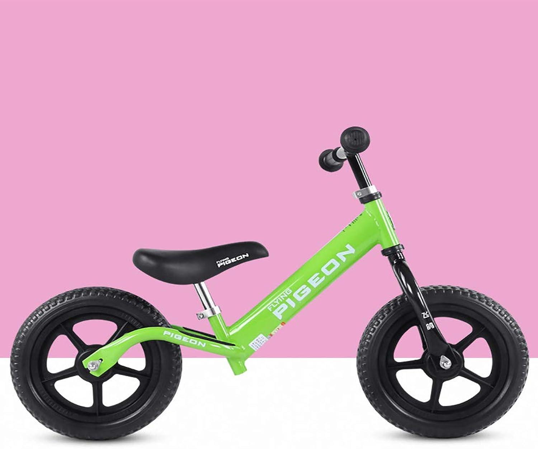 descuento de ventas en línea HYYQG Bicicleta Bicicleta Bicicleta Equilibrio para 2-6 años Niños niñas, Ligero Marco De Acero Al Cochebono Sin Pedal Asa del Asiento Ajustable Bicicleta De Entrenamiento para Niños pequeños  servicio considerado