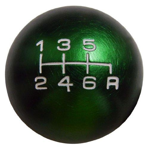VMS RACING 10x1.25mm Thread 6 Speed JDM Round Ball Shift Knob in Green Billet Aluminum for Mazda Miata RX8 RX-8