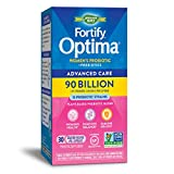 Nature's Way Fortify Optima Women's Daily Probiotic, 90 Billion, 15 Strains, Prebiotic, 30 Capsules