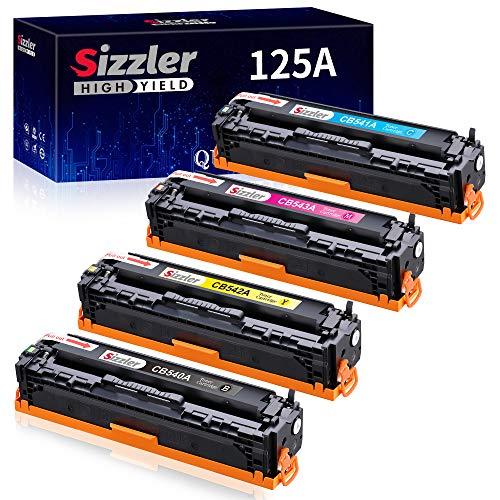 Sizzler Compatible HP 125A Cartucho de tóner CB540A CB541A CB542A CB543A para HP Color LaserJet CM1312 CM1312 mfp CM1312nfi CP1210 CP1213 CP1215 CP1510 CP1514n CP1515 CP1515n CP1518ni CP1519n CP1818n