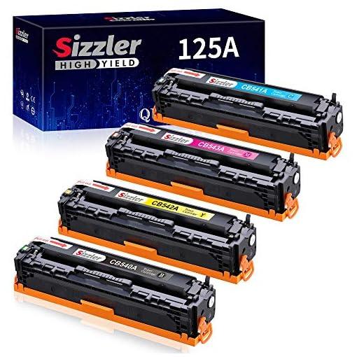 Sizzler Compatible HP 125A Cartucho de tóner CB540A CB541A CB542A CB543A para HP Color LaserJet CM1312 CM1312 mfp… 1