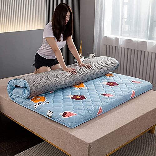 Nuiik-C22x Materasso Tatami Pieghevole per Adulti Cartone Animato, Materasso Singolo Matrimoniale Spessore Quattro Stagioni 5 cm per Camere Familiari Dormitori (120x200 cm)