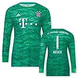 adidas FC Bayern München Torwarttrikot Neuer 2019/20, Größe:164, Spielername:1 Neuer