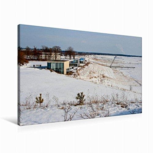 Premium Textil-Leinwand 90 x 60 cm Quer-Format IBA-Terassen am Großräschener See | Wandbild, HD-Bild auf Keilrahmen, Fertigbild auf hochwertigem Vlies, Leinwanddruck von Birgit Seifert