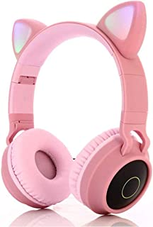 Bluetooth Headphones,Wireless Headphones,Headphone Over Ear,Kids Headphones,Cat Ear LED Light Up Bluetooth Foldable Headph...