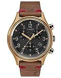 Timex Mens Chronograph Quartz Watch with Leather Strap TW2R96300