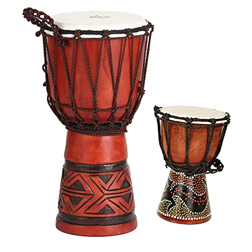 X8 Celtic Labyrinth Djembe Drum with Bag