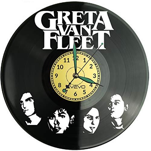 Greta Van Fleet, orologio da parete in vinile, stile retrò, grande orologio, decorazione per la casa, idea regalo per amici, in vinile, per la casa, decorazione per la casa