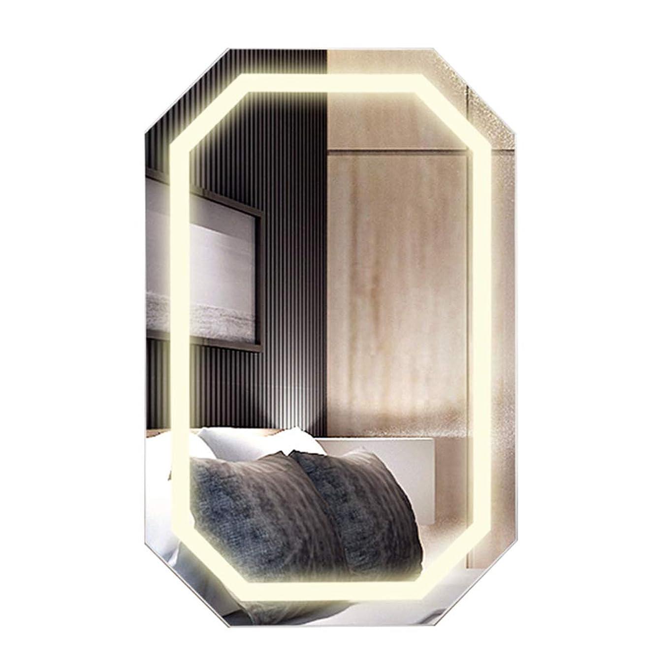 準拠シミュレートするしなやかな化粧品ホルダー、壁掛け化粧鏡、寝室浴室多機能ストレージミラーキャビネット、木製家庭用スマートLedランプジュエリーキャビネットNayang Store