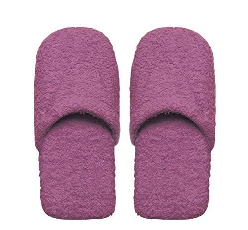 Excelsa Bagno Caldo Pantofole Da Uomo, Spugna, Lilla, 30x12x5 cm