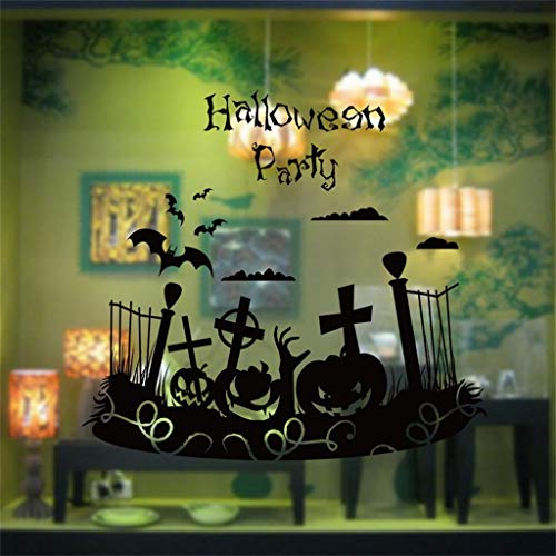 Halloween Party Fence Halloween Holiday Decoration Wall Stickers Home Decoration