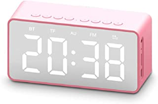 Portable Bluetooth Speaker,FM Radio ,Portable Wireless Stereo Music Subwoofer,HD mirror display LED clock, hands-free call...