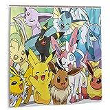 Others Pokemon Pikachu Duschvorhänge, langlebig, wasserdicht, Premium-Gewebe, dekorieren Sie Ihr Badezimmer, Dusche, Schrank & Badewanne, 183 x 183 cm