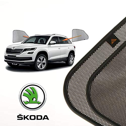Cortinillas Parasoles Coche Laterales Traseras a Medida para Skoda Kodiaq (2016-presente) SUV 5 Puertas