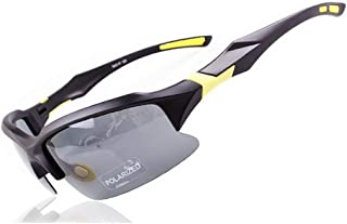 GLJJQMY Riding Sports Glasses Outdoor Sunglasses Riding Polarized Glasses Sunglasses (Color : Yellow)