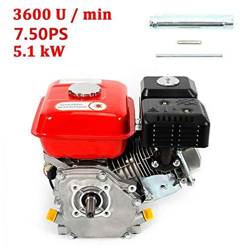 Küchenks 7.5 HP / 5.1 kW / 3600 RPM Petrol Engine (20 mm Shaft, with Oil Alarm, Air-Cooled Singel Cylinder 4-Stroke Engine) Gasoline Engine