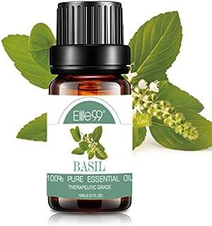 Elite99 Essential Oil Aromatherapy Basil Pure Oil for Diffuser Natural Theraputic Grade Oil 10ML