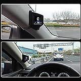 Qians AP1 Universal Car HUD Dual System Head Up Display Velocímetro Digital OBD GPS Velocidad Del Vehículo MPH RPM Del Motor Advertencia De Exceso De Velocidad Kilometraje RefrigerantePresión enhanced