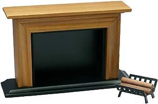 Amagogo 1/12 Fireplace & Firewood Rack Holder Dollhouse Furniture Living Room Items