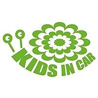 imoninn KIDS in car ステッカー 【シンプル版】 No.27 デンデンムシさん (黄緑色)