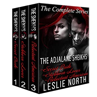 The Adjalane Sheikhs     The Complete Series Box Set              By:                                                                                                                                 Leslie North                               Narrated by:                                                                                                                                 Nicholas Thurkettle                      Length: 7 hrs and 27 mins     14 ratings     Overall 4.7