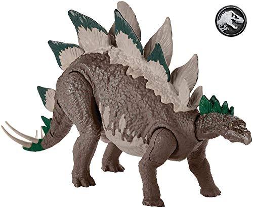 Mattel GDL06 - Jurassic World Dino Rivals Mega Doppel-Attacke Dinosaurier Stegosaurus, Spielzeug ab 4 Jahren