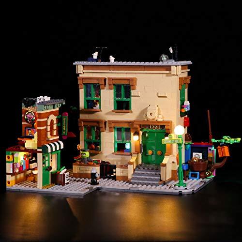 Gettesy Juego de iluminación LED para Lego Ideas 21324 123 Sesame Street, iluminación LED compatible con Lego 21324 (no incluye el modelo)