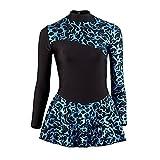 Vestido estampado laminado Starlite para patinaje sobre hielo negro/azul 10-11 Años