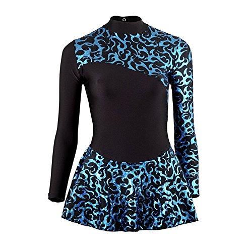 Starlite vestito con stampa per pattinaggio sul ghiaccio Black/Blue 6 anni