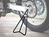 Eapele Triangle Stand for Dirt Bike, T-shaped Central Support for Greater Bearing Capacity, Solid Steel Structure with Black Powder Coated Protection