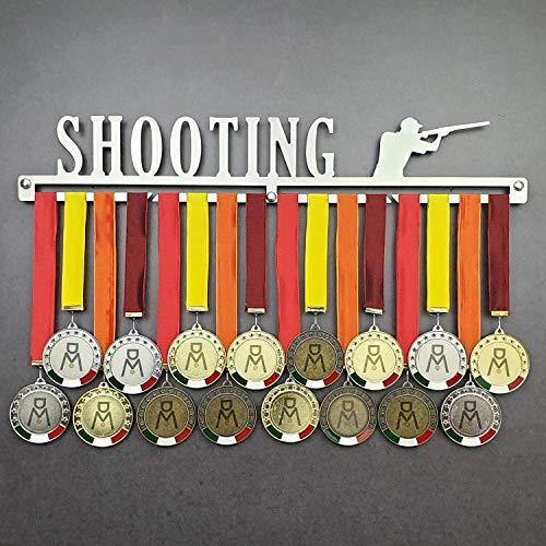 Shooting - Medagliere da Parete - Porta medaglie Tiro al Volo - Piattello - Sport Medal Hanger - Display Rack (450 mm x 80 mm x 3 mm)