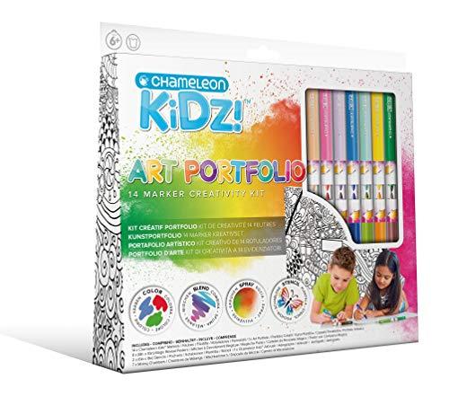 Chameleon Kidz Art Portfolio - Juego de rotuladores de tinta a base de agua (12 unidades)