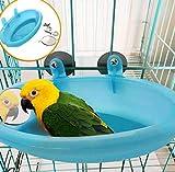 Hpybest Baignoire pour Perroquet avec Miroir pour Animal Domestique Accessoires de Cage pour Oiseau Miroir de Bain Boîte de Douche Cage à Oiseaux Petit Oiseau Cage à Oiseaux Jouets