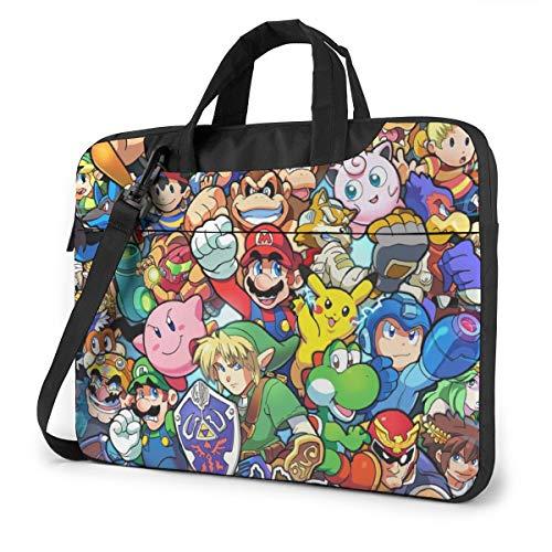The Legend of Zelda Super Mario Smash Bros Kirby Laptop Bag Tablet Briefcase Portable Protective Case Cover 15.6 inch