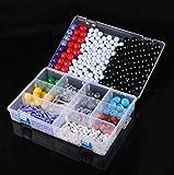 MKULOUS Kit de Modelos Moleculares - Quimica Organica Cientifico Atom Molecular Modelo Clase Kit Set para Maestros Estudiantes Científico Química