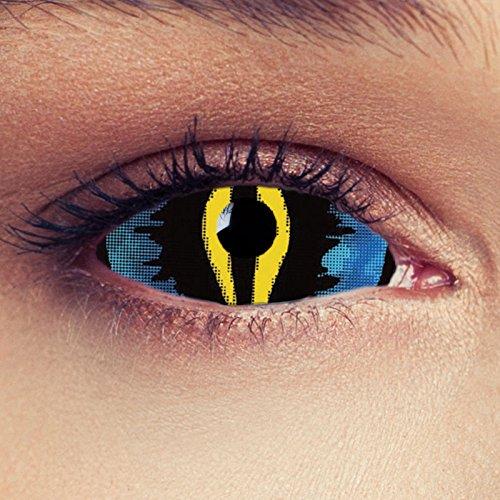Lentillas ojos de gato de color amarillo